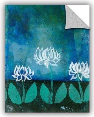 "ArtWall Lotus Blossom by Elena Ray Removable Wall Decal 0ray007a Size: 48"" H x 36"" W x 0.1"" D"