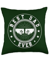 Father's Day Gift Co. Best Dad Ever Retro Fist Bump Men's Father's Day Gift Throw Pillow, 18x18, Multicolor