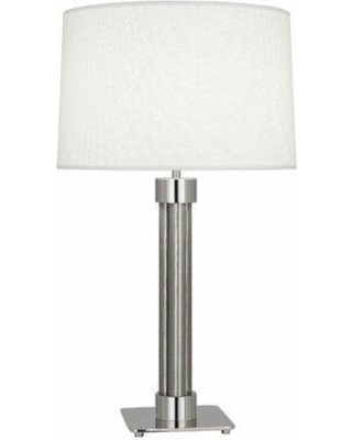 """Robert Abbey Todd 31"""" Table Lamp S413 / 413 Base Finish: Polished Nickel/Stainless Steel Mesh Shade Color: White Linen"""