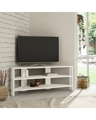 Terry Modern TV Stand (17.72'' x 30.86'' x 14.17'' - Wood - White)