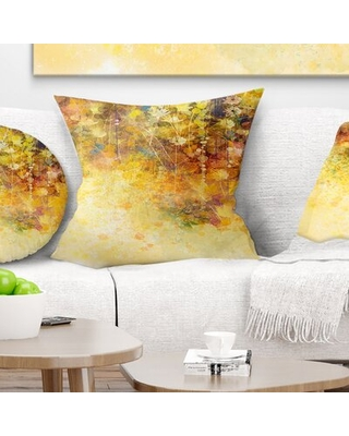 Floral Flowers and Soft Color Leaves Pillow