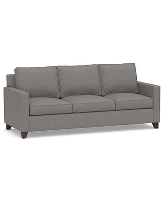Cameron Square Arm Upholstered Side Sleeper Sofa, Polyester Wrapped Cushions, Performance Chateau Basketweave Blue