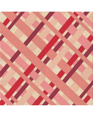 East Urban Home Horrell Plaid Wool Pink Area Rug X113615495 Rug Size: Square 4'