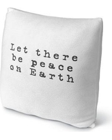 "Ivy Bronx Estey Let There Be Peace on Earth Outdoor Throw Pillow IVBX2279 Size: 16"" x 16"""