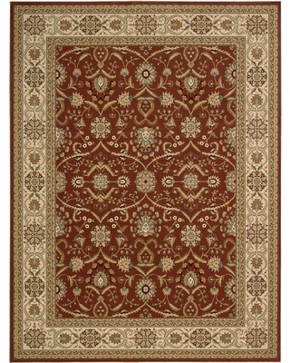 Great Sales On Nourison Persian Crown Brick 5 Ft X 7 Ft Persian Classic Area Rug Pink