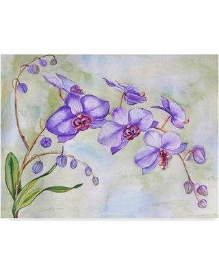 """Trademark Art 'Orchids Purple' Print on Wrapped Canvas ALI37521-CGG Size: 35"""" H x 47"""" W x 2"""" D"""