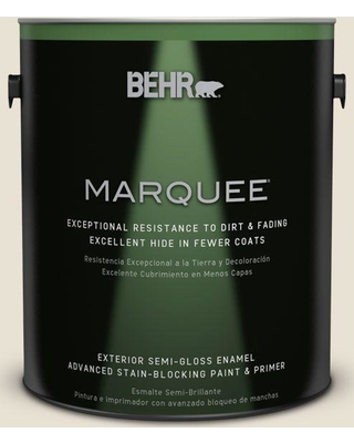 BEHR MARQUEE 1 gal. #BXC-62 Alabaster Semi-Gloss Enamel Exterior Paint and Primer in One