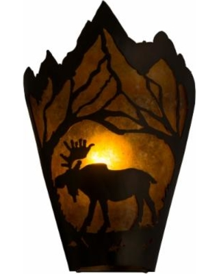 Meyda Lighting Moose At Dawn Left 12 Inch Wall Sconce - 161606