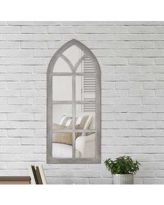 Charlton Home Fiscus Windowpane Wall Accent Mirror W000407823 Finish: Gray