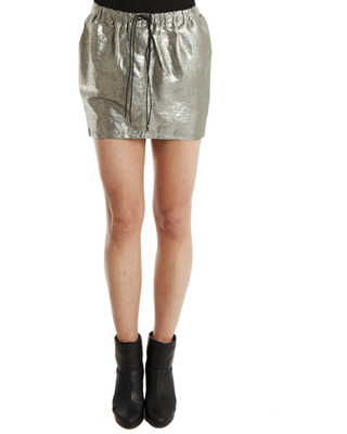 Women's ELIZABETH AND JAMES Crawford Skirt in Silver, Size Large