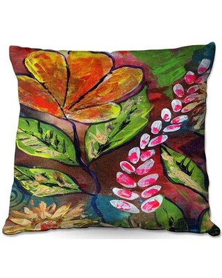 """East Urban Home Couch Blossoms Throw Pillow W001182657 Size: 16"""" x 16"""""""
