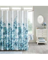 """""""Enza 72x72"""" Floral 100% Cotton Printed Shower Curtain - Madison Park MP70-5820"""""""