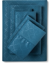 Christopher Knight Home Natalia Cavalletto Swirl Design Sheet Set -Dark Teal (King), Dark Teal