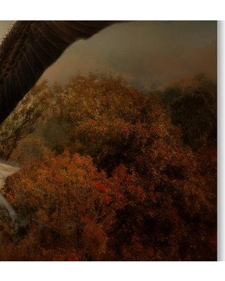 """Trademark Fine Art 'Fall Fishing' Graphic Art Print on Wrapped Canvas ALI15027-C Size: 30"""" H x 47"""" W"""