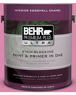 BEHR ULTRA 1 gal. #100B-5 Springtime Bloom Eggshell Enamel Interior Paint and Primer in One