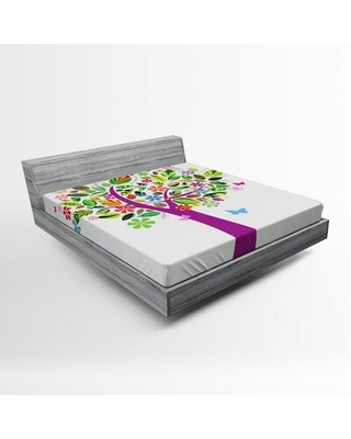 Tree of Life Fitted Sheet East Urban Home Size: Full