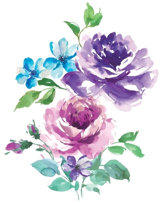 WallPOPs Royal Roses Multi-Colored Wall Decal