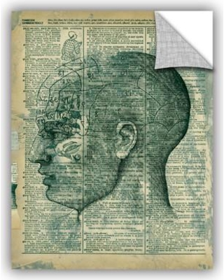 """ArtWall Right Brain Thinker by Elena Ray Removable Wall Decal 0ray008a Size: 24"""" H x 18"""" W x 0.1"""" D"""