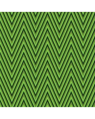 East Urban Home Chevron Green Area Rug X113660467 Rug Size: Square 3'