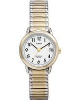 Women's Timex Easy Reader Expansion Band Watch - Two Tone T2H381JT, Gold/ Silver