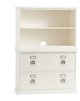 Bedford Lateral File Cabinet Bookcase Antique White