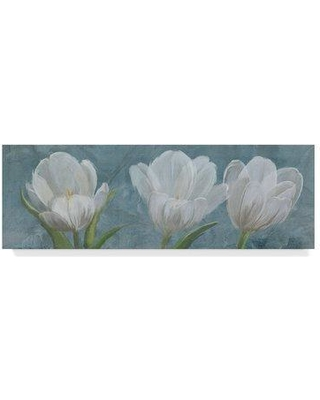 """Winston Porter 'Tulip Triolet 2' Acrylic Painting Print on Wrapped Canvas WNST6548 Size: 6"""" H x 19"""" W x 2"""" D"""