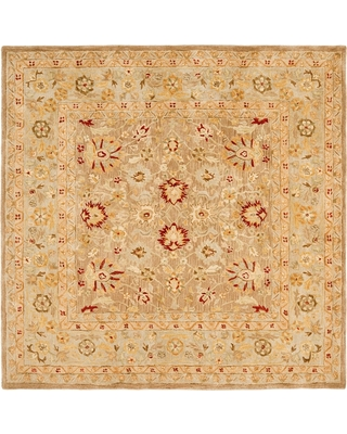 New Last Minute Deals On Tan Ivory Floral Tufted Square Area Rug 8