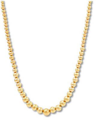 1e1a9d42d622c BIG Deal on Graduated Beaded Necklace 14K Yellow Gold 17