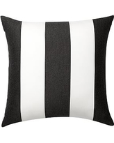 "Sunbrella(R) Awning Stripe Indoor/Outdoor Pillow, 24"", Black"