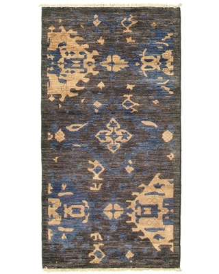 ECARPETGALLERY Hand-knotted Pak Finest Transitional Grey Wool Rug - 2'7 x 5'3
