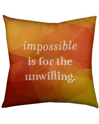 "East Urban Home Impossible Throw Pillow EBJZ8354 Size: 26"" H x 26"" W Color: Amber"