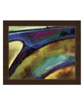 """Click Wall Art 'Machina' Framed Painting Print ABS0012180FRA Format: Espresso Framed Size: 10.5"""" H x 12.5"""" W"""
