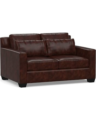 Stupendous York Deep Seat Square Arm Leather Loveseat 60 Polyester Wrapped Onthecornerstone Fun Painted Chair Ideas Images Onthecornerstoneorg