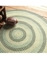 Colonial Mills Carousel Neon Green / Tan Area Rug OU59R Rug Size: Round 6'
