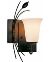 Hubbardton Forge Right Side Leaf and Stem Wall Sconce