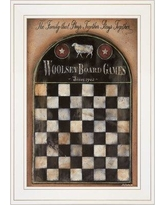 August Grove 'Woolsey Board Game' Framed Acrylic Painting Print BI095101 Format: White Framed