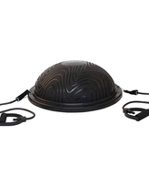 Half Ball Balance Trainer - For Home Rehabilitation, Exercise, and Stability Training - Includes Straps, and Pump