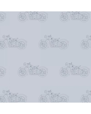 "Motorcycle 12' x 24"" Wallpaper Roll Pemberley Rose Color: Storm"