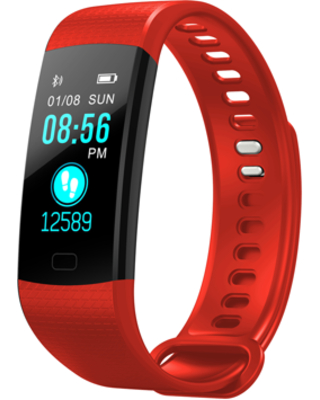 Smart Watch Fitness Tracker Heart Rate Monitor, Gym Sports Tracker Watch, Pedometer Watch with Sleep Monitor, Step Tracker (RED)