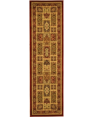 Ivory/Pink Floral Loomed Runner 2'3X6' - Safavieh, Red