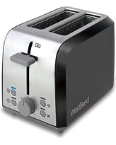 West Bend 78823 Two Slice Toaster, Black/Metallic