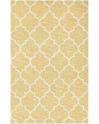 """Darby Home Co Lissette Hand-Woven Gold/Ivory Area Rug DRBC1699 Rug Size: Rectangle 9'5"""" x 13'4"""""""