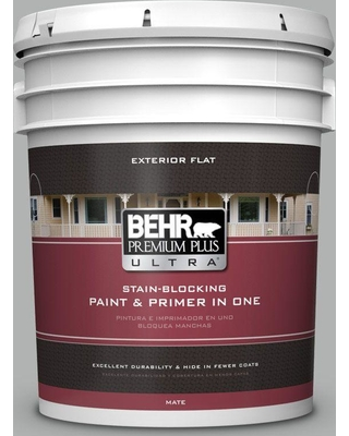 Find Deals On Behr Ultra 5 Gal 780f 4 Sparrow Flat Exterior Paint And Primer In One