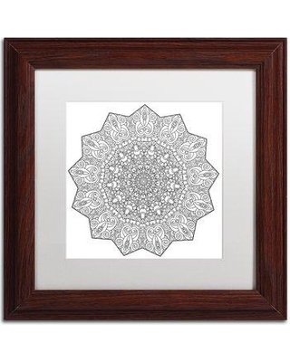 """Trademark Fine Art """"Mixed Coloring Book 21"""" by Kathy G. Ahrens Framed Graphic Art ALI3446-W1 Matte Color: White Size: 16"""" H x 16"""" W x 0.5"""" D"""