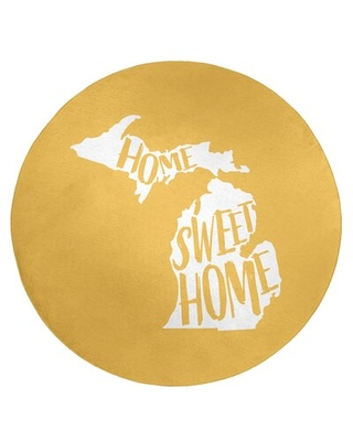 Home Sweet Michigan Poly Chenille Rug East Urban Home