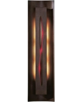 "Gallery Collection Red Glass 27 1/4"" High Wall Sconce"