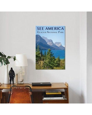"East Urban Home 'Glacier National Park by Zack Frank' Graphic Art Print on Canvas UBAH5217 Size: 26"" H x 18"" W x 1.5"" D"