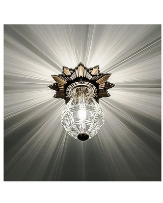 Opera House Flush Mount Ceiling Light by Boyd Lighting - Color: Clear - Finish: Brass - (10666-CLEAR-AB/B)