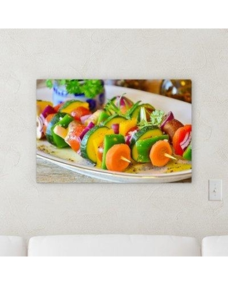 """Ebern Designs 'Vegetable Skewer' Photographic Print on Canvas W000933616 Size: 16"""" H x 20"""" W x 2"""" D"""