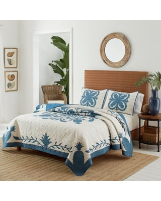 Tommy Bahama® Aloha Pineapple Full/Queen Quilt in Blue